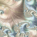 Mother Of Pearl - A Fractal Abstract by Ann Garrett