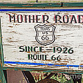 Mother Road Sign by Sue Smith