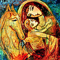 Mother With Child On Horse by Shijun Munns