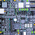 Motherboard Abstract 20130716 P38 Square by Wingsdomain Art and Photography