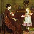 Mothers Little Helper by George Goodwin Kilburne