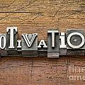 Motivation Word In Metal Type by Marek Uliasz