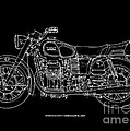 Moto Guzzi Ambassador 1969 by Drawspots Illustrations