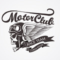 Motor Skull Crest Graphic. - Vector by Pand P Studio