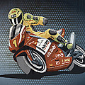 Motorbike Racing Grunge Color by Frank Ramspott