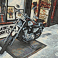 Motorcycle At Philadelphia Eddies by Alice Gipson