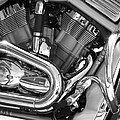 Motorcycle Close-up Bw 1 by Anita Burgermeister