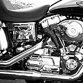 Motorcycle Close-up Bw 3 by Anita Burgermeister