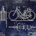 1903 Motorcycle Patent Blue by Jon Neidert