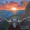 Motorcycle Sunset by Samantha Geernaert