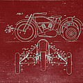 Motorcycle Support Patent Drawing From 1932 3 by Samir Hanusa