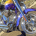 Motorcycle Without Blue Frame by Geraldine Scull
