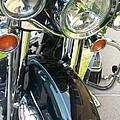 Motorcyle Classic Headlight by Anita Burgermeister