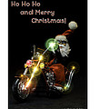 Motoring Santa by Christopher Holmes