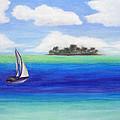Motu Sailing by Patricia Beebe