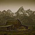 Moulton Barn And Tetons by Steve Smith