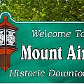 Mount Airy Sign Nc by Bob Pardue