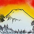 Mount Fuji At Daybreak by Roberto Prusso