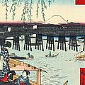 Mount Fuji From Ryogoku 1858 by Padre Art