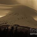 Mount Hood In The Clouds by Cari Gesch