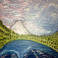 Mount Hood Night Sky by Suzanne Surber