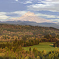 Mount Hood Over Sandy River Valley by Jit Lim
