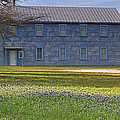 Mount Horeb Masonic Lodge 137 With Bluebonnets by Gary Holmes