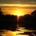 Mount Lassen Sunrise Gold by Joyce Dickens