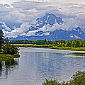 Mount Moran From Oxbow Bend N Grand Teton National Park-wyoming by Ruth Hager