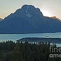 Mount Moran Lake Jacksonsignal Mountain Grand Teton National Park  by Fred Stearns