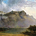 Mount Olympus. Lake St Clair. Tasmania The Source Of The Derwent by William Charles Piguenit