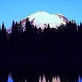 Mount Rainer At Tipsoe Lake In The Sunrise by Jeff Swan