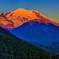 Mount Rainier Alpenglow by Greg Norrell