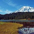 Mount Rainier And Reflection Lake by Earl Johnson