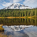 Mount Rainier And Reflection Lakes In The Fall by Jeff Goulden
