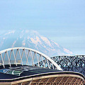 Mount Rainier Backdrop by Kristin Elmquist