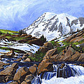 Mount Rainier From Edith Creek by Carlene Salazar