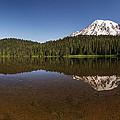 Mount Rainier Reflection Lake Panorama by Lee Kirchhevel