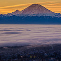 Mount Rainier Sunrise Mood by Mike Reid