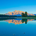 Mount Rundle At Jack Lake by Yi Luo