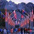 Mount Rushmore At Night by John Malone