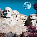 Mount Rushmore In South Dakota by Celestial Images