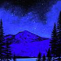 Mount Shasta In Starlight by Frank Wilson