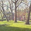 Mount Street Gardens, London Oil On Canvas by Julian Barrow