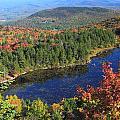 Mount Sunapee Lake Solitude Fall Foliage by John Burk