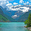 Mount Victoria Rises Above Lake Louise In Banff Np-alberta by Ruth Hager