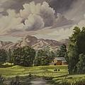 Mountain Farm by Wanda Dansereau