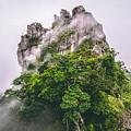 Mountain In The Cloud And Fog by Vasek Rak