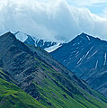 Mountain Peaks From Eielson Visitor's Center In Denali Np-ak by Ruth Hager