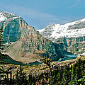 Mountain Peaks From Plain Of Six Glaciers Trail In Banff Np-albe by Ruth Hager